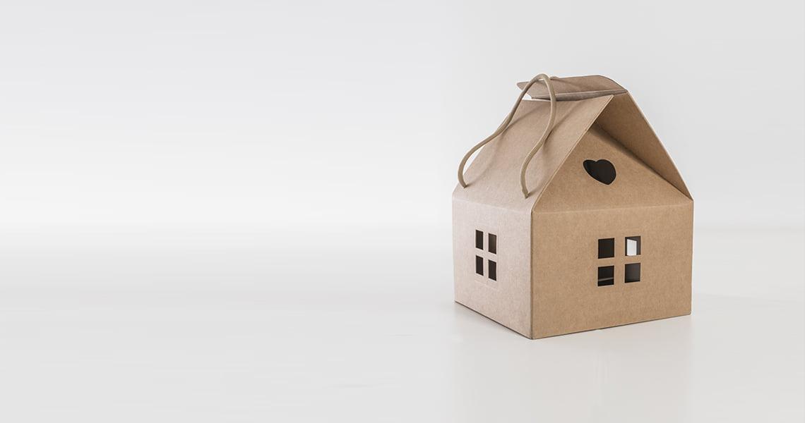 Scatola a forma di casa