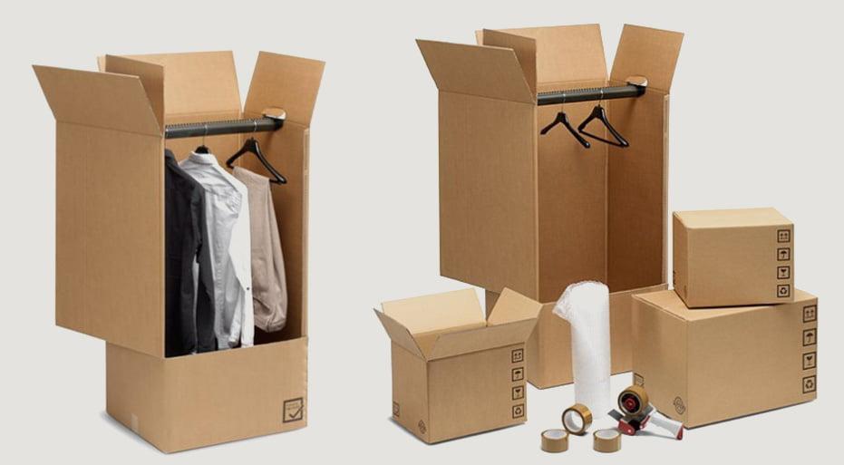 scatole di cartone per abiti