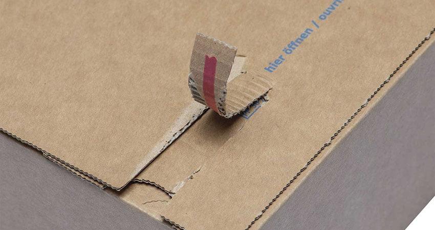 Scatola di cartone con chiusura adesiva Stilef