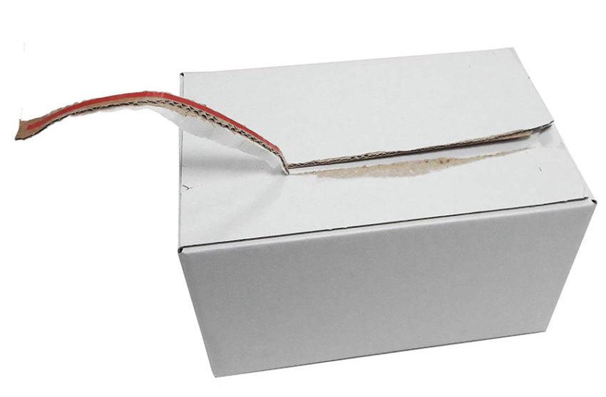 scatole in cartone bianco da spedizione