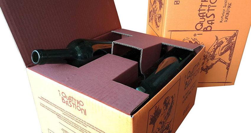 Scatole di cartone per bottiglie - romagna