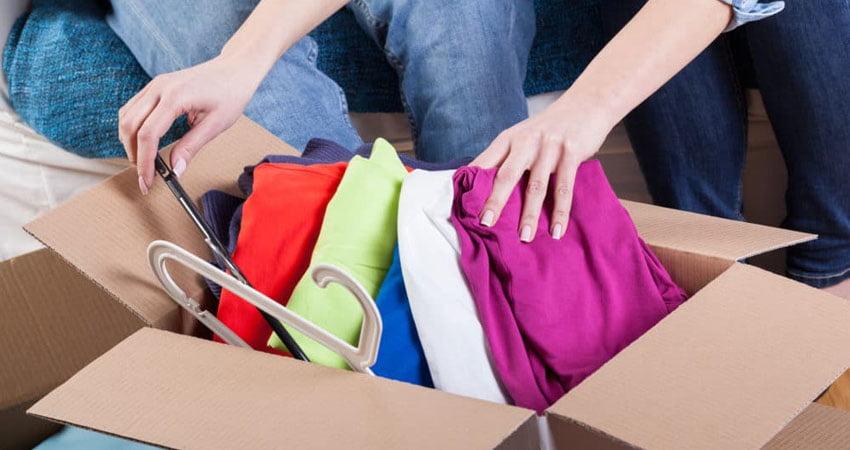spedire gli abiti con le scatole stilef