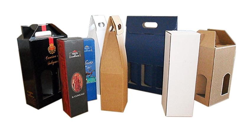 Imballaggi per spedire bottiglie di vino in cartone ondulato