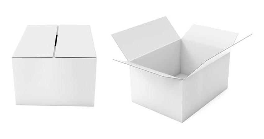 scatole cartone bianco