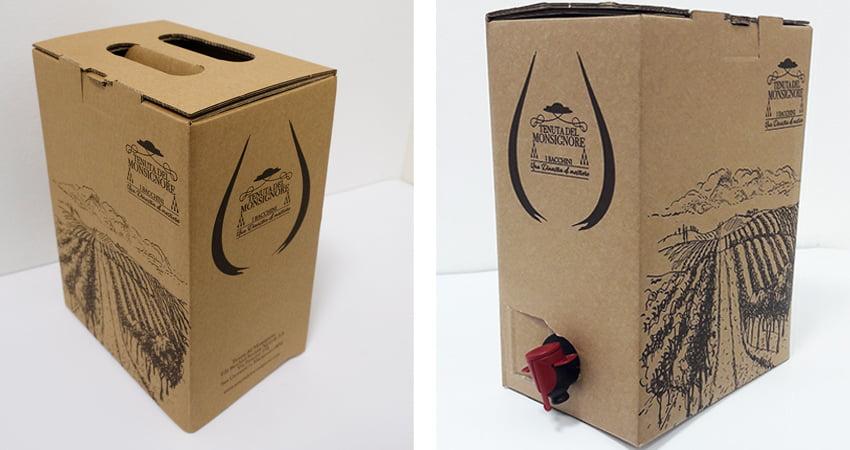 Scatole Bag in Box in cartone per liquidi